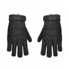 Outdoor Mountaineering Full-Finger Windproof Gloves for Men - Black (XL)
