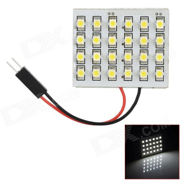 FD1210-24W T10 BA9S Festoon 2W 6000K 140lm 24-SMD 3528 LED White Car Reading Lamp (12V) 8 64w 48 5050 smd led car reading interior dome light w t10 ba9s festoon 31 41mm connectors