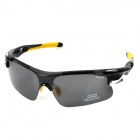CARSHIRO 9358 UV Protective Riding Polarized Resin Lens Sunglasses / Goggles - Black + Yellow