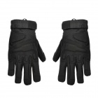 Outdoor Mountaineering Full-Finger Windproof Gloves for Men - Black (L)