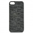 Protective Electroplating PC Case for iPhone 5 - Black