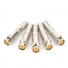 BNC-B Zinc Alloy Connector Adapter - Silver (5PCS)