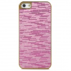 Electroplating Glitter Effect PC Back Case for iPhone 5 - Pink + Golden