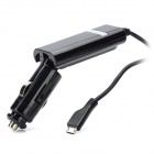 SANDI Cool Car Cigarette Powered Charging Adapter Charger w/ Micro USB Port for Cell Phone - Black