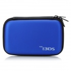 Protective Artificial Leather Case Bag w/ Carabiner for Nintendo 3DS - Deep Blue