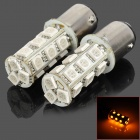 115.750-18Y 1157 3.5W 200lm 18-SMD 5050 LED Yellow Car Steering / Brake / Tail / Head Lights (2 PCS)