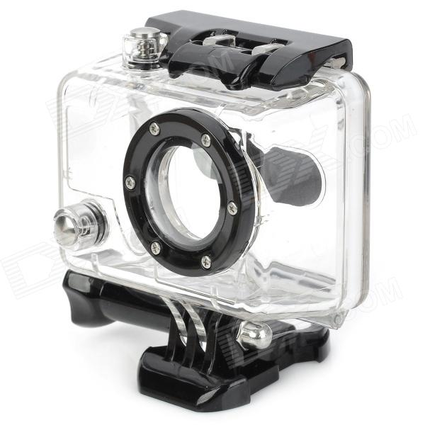 RI-002 Waterproof PC Camera Housing Case for GoPro / SupTig - Black + Transparent