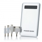 S-037S External 4000mAh Power Bank Battery Charger w/ 4 Adapters for iPhone 4S / Cell Phone - Silver