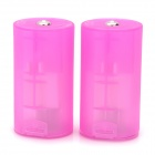 2 x AA to D Type Battery Converter Cases - Fuchsia ( 2 PCS)