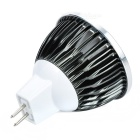 GX5.3 3W 260lm 6000K White 1-LED COB Spot Light - Black (12V)