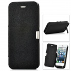 2200mAh Emergency Battery Pack Charger w/ PU Leather Cover for iPhone 5 - Black