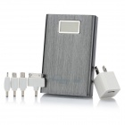 "Blueendless BS-11200 External 1.5"" LCD 11200mAh Power Battery Charger for Cell Phone - Silver Grey"