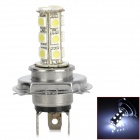 H45018W H4 3W 350lm 18-SMD 5050 LED White Car Foglight (12V)