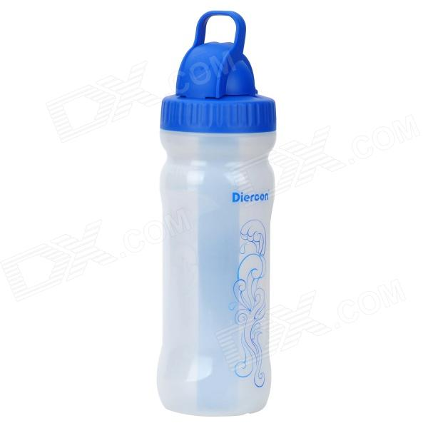 PB03-01 Portable Outdoor Water Purifying Bottle - Blue + White (400ml) gj4431 portable outdoor aluminum water bottle orange 400ml