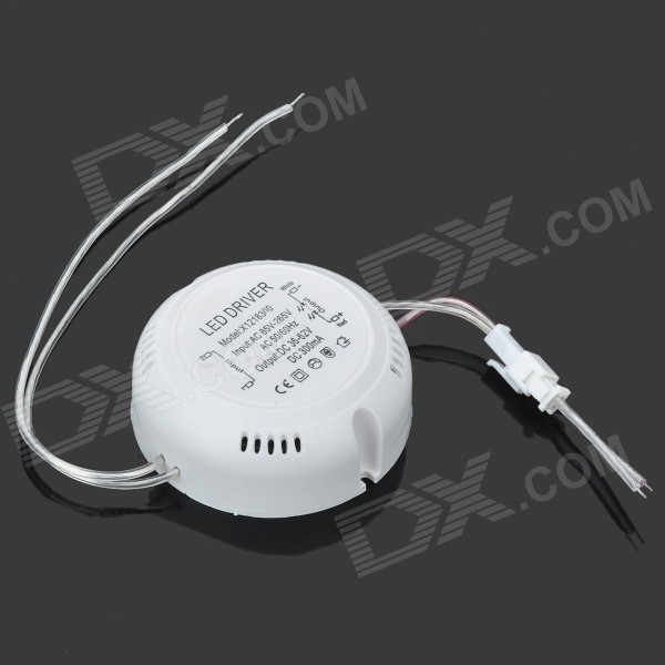 18W Round Shape LED Power Supply Driver - White (85~265V) 90w led driver dc40v 2 7a high power led driver for flood light street light ip65 constant current drive power supply