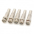 Zinc Alloy BNC-3-4-5 Video Connection Adapters - Silver (5 PCS)