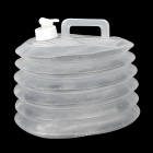 Outdoor Sports PE Folding Water Bucket - Transparent (10L)