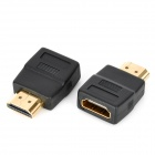 HDMI Male to HDMI Female Adapter - Black (2PCS)
