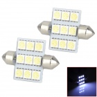 LY218 Festoon 36mm 2.7W 99lm 9-SMD 5050 LED White Light Car Interior / Reading Lamp (DC 12V / 2 PCS)