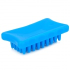 Plastic Massaging Bathing Palm-Brush for Pets - Blue