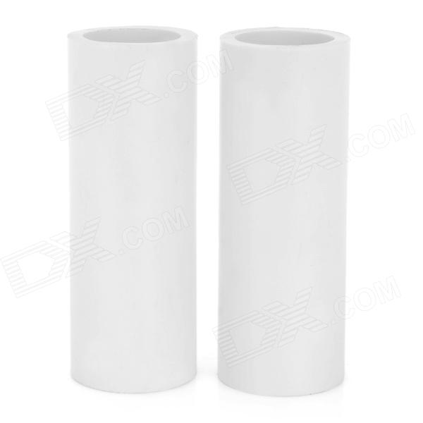Plastic 18650 to 26650 Battery Holders - White (2 PCS)