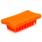 Plastic Massaging Bathing Palm-Brush for Pets - Orange