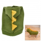 Stegosaurus Style Polar Fleece Pet Clothes - Green + Yellow (35 x 23cm)