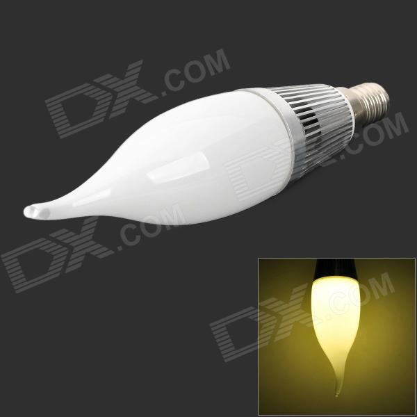 Candle Style E14 1W 90lm 3500K 2-SMD 5630 LED Warm White Bulb - Silver + White (AC 85~245V)