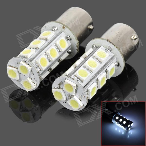 115650-18W 1156 3.5W 200lm 18-SMD 5050 LED White Car Steering / Brake / Tail / Head Lights (2 PCS) 115650 18r 1156 3 5w 200lm red light 18 smd 5050 led car turn signal tail lamp dc 12v 2 pcs