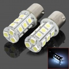 115.650-18W 1156 3.5W 200lm 18-SMD 5050 LED White Car Steering / Brake / Tail / Head Lights (2 PCS)