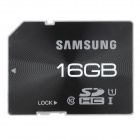 Genuine SAMSUNG Class 10 SD Memory Card - Black (16GB)