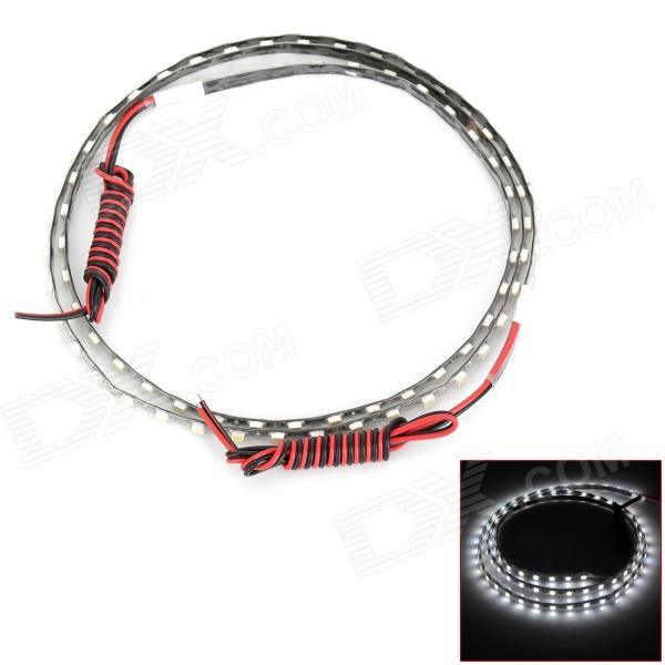 D13010401X 12.6W 630lm 6000K 90-SMD 1210 LED White Light Flexible Light Strip - Black (12V / 90cm)
