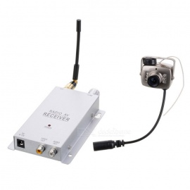 "C-203 1.2G Wireless 1/3"" CMOS NTSC Digital Video Camera w/ 4-LED IR Night Vision - Silver (2.7mm)"
