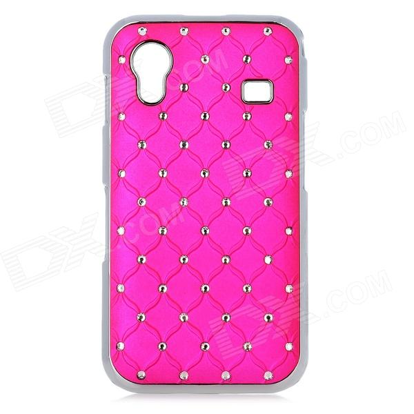 Protective CrystalPlastic Back Case for Samsung Galaxy Ace S5830 - Deep Pink + Silver and22 protective plastic bumper case for samsung galaxy s3 mini i8190 white transparent