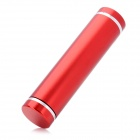Cylinder-Shaped External 2600mAh Emergency Power Battery Charger for Cell Phone / MP3 / MP4 - Red