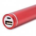2600mAh Emergency Battery Charger Power Bank for Cell Phone - Red