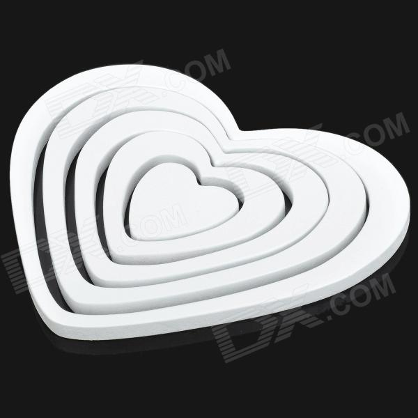 3D Herzform Home Wand Decor Sticker - White