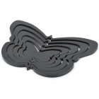 3D Butterfly Shape Home Wall Decor Sticker - Black