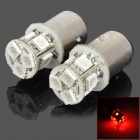 115750-8R 1157 1.3W 150lm 8-SMD 5050 LED Red Car Brake / Tail / Headlamp / Reverse Lights (Pair)