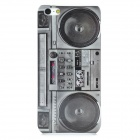 Retro Radio Pattern Protective Back Case for Iphone 5 - Grey + Black + White