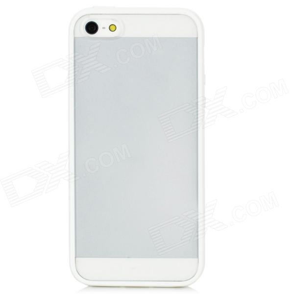 Protective Frosted Back Case for Iphone 5 - Translucent White protective silicone case for nds lite translucent white