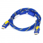HDMI Male to HDMI Male Connection Cable - Blue + Yellow (1.5 Meter - Length)