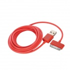 30 Pin Male to USB Male Data / Charging Cable for Apple Series Products - Red (200cm)