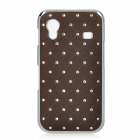 Protective CrystalPlastic Hard Back Case for Samsung Galaxy Ace S5830 - Coffee