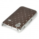 Protective Crystal Plastic Hard Back Case for Samsung Galaxy Ace S5830 - Coffee