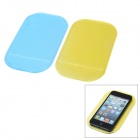 Auto Car Anti-Slip PVC Pad for Cell Phone - Blue + Yellow (2 PCS)