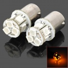 115650-8Y 1156 1.3W 150lm 590nm 8-SMD 5050 LED Yellow Light Car Lamps - (DC 12V / 2 PCS)