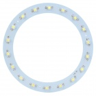 JR-18-1W 18W 1800lm 6300K 18-LED White Light Round Ceiling Lamp Source Module - White (57~65V)
