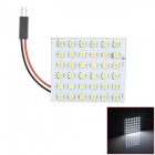FD1210-36W T10 / BA9S / Festoon 2.1W 200lm 36-SMD 3528 LED White Light Car Leselampe - (DC 12V)