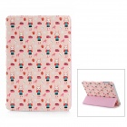 ROCK Rabbit XiaoJi Red House Style Protective PU Leather Case for Ipad MINI - Light Pink
